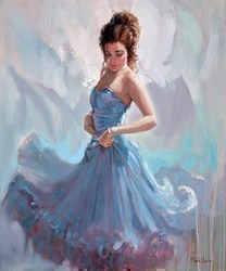 Blue Sparkle Dress by Mark Spain -  sized 20x24 inches. Available from Whitewall Galleries